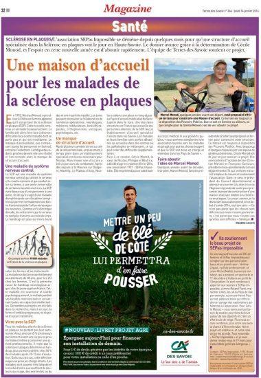 Terres des Savoie : Une maison d'accueil pour les malades de la sclérose en plaques