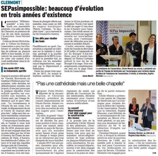 Le Dauphiné : SEPasimpossible : beaucoup d'évolution en trois années d'existence