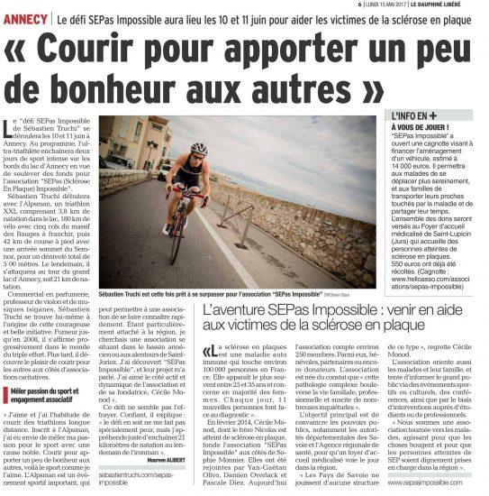 Le Dauphiné : «Courir pour apporter un peu de bonheur aux autres»