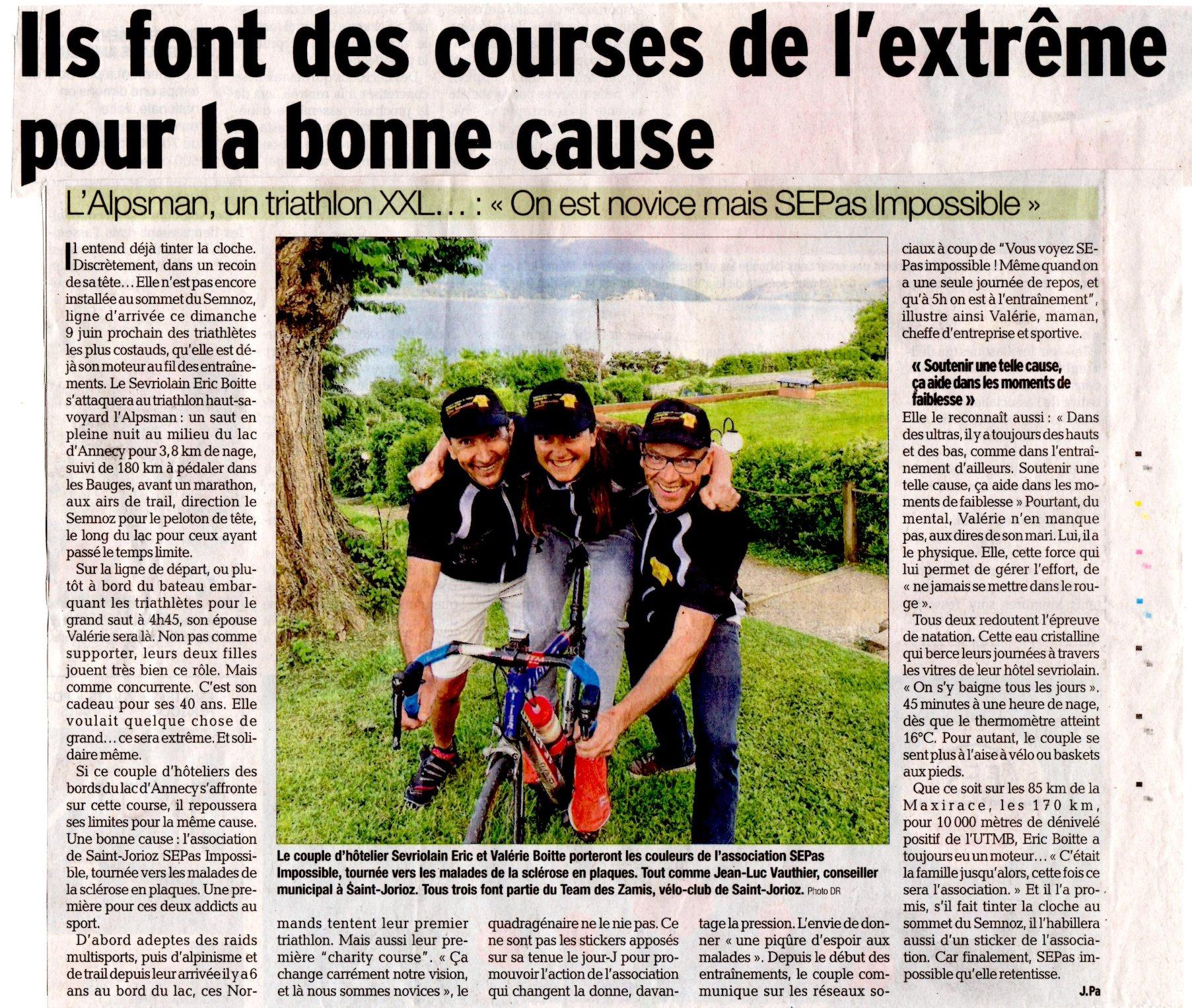 Le Dauphiné : Ils font des courses de l'extrême pour la bonne cause