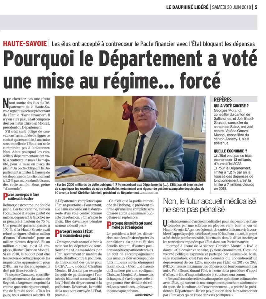 Le Dauphiné : Pourquoi le Département a voté une mise au régime… forcé