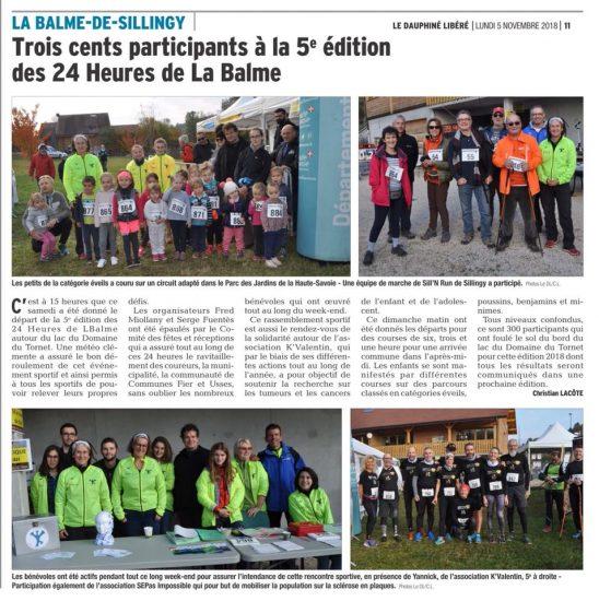 Le Dauphiné : Trois cents participants à la 5e édition des 24 Heures de La Balme